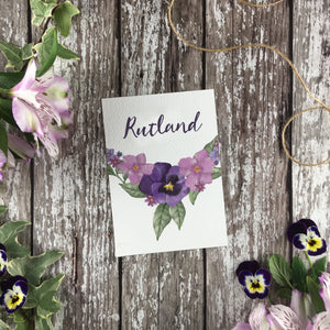 Country Garden - Wedding Table Name Cards