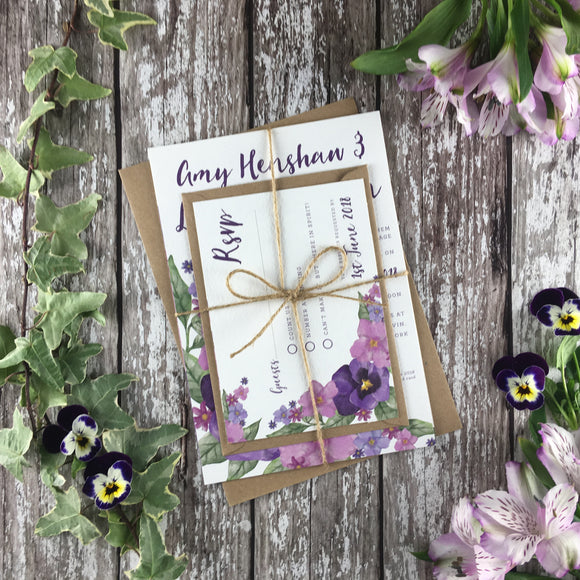 Country Garden - Wedding Invitation Sample