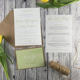 Posy Sage - Wedding Invitation Cards