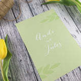 Posy Sage - Double Sided Guest Information Cards