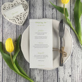 Posy Sage - Wedding Menu Card