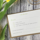 Posy Sage - Double Sided RSVP Cards