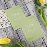 Posy Sage - Wedding Table Number Cards