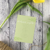 Posy Sage - Wedding Table Plan Cards