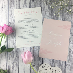Posy Pink - Double Sided Guest Information Cards