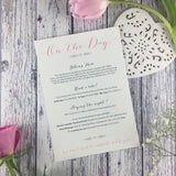 SAMPLE Posy Pink - Wedding Invitation Sample