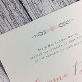 Posy Pink - Wedding Invitation Cards