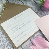 Posy Pink - Double Sided RSVP Cards