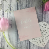 Posy Pink - Wedding Table Number Cards