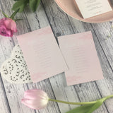 Posy Pink - Wedding Table Plan Cards