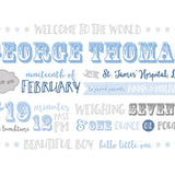Showtime Baby Announcement Print - Blue