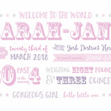 Showtime Baby Announcement Print - Pink