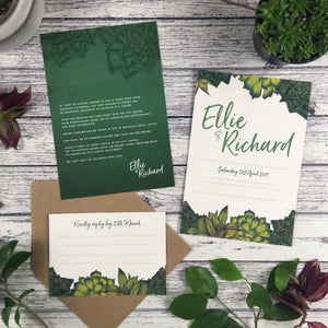 SAMPLE Succulents - Wedding Invitation Sample