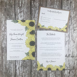 Watercolour Sunflowers - Guest Information Cards