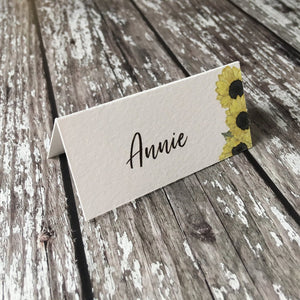 Watercolour Sunflowers - Wedding Placecards