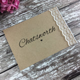 Rustic Lace - Wedding Table Name Cards