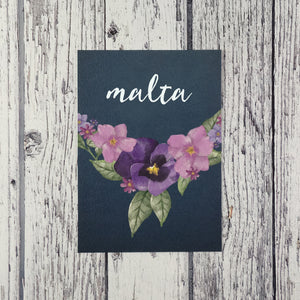 Midnight Country Garden - Wedding Table Name Cards
