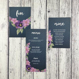 Midnight Country Garden - Wedding Table Plan Cards