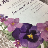 SAMPLE Country Garden - Wedding Invitation Sample
