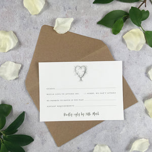 Rustic Heart - RSVP Cards