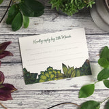 Succulents - RSVP Cards