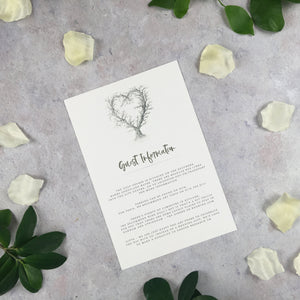 Rustic Heart - Guest Information Cards