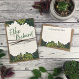Succulents - Wedding Invitation Sample