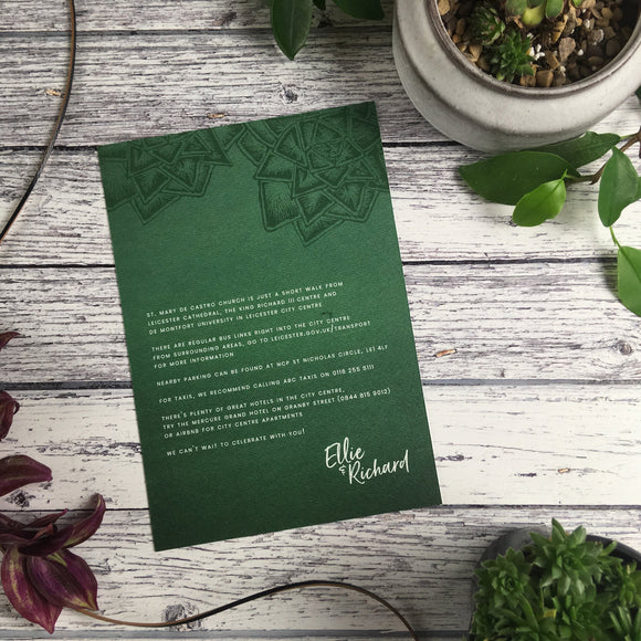 Succulents - Guest Information Cards