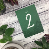Succulents - Wedding Table Number Cards