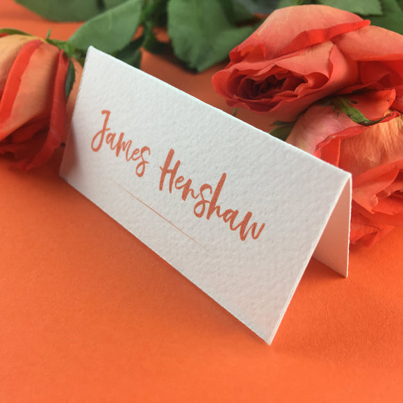 On The Day Essentials - Burnt Orange Placecard