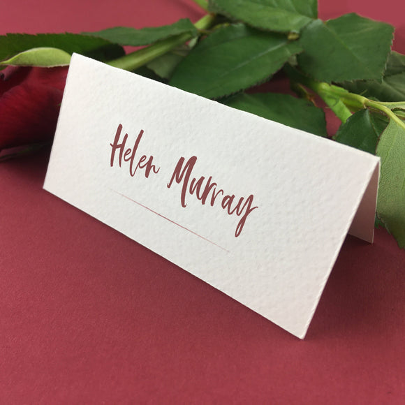 On The Day Essentials - Wine Red Placecard