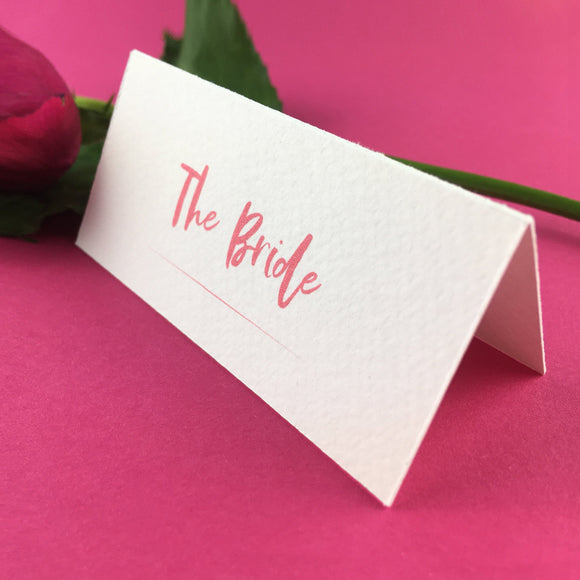 On The Day Essentials - Fuchsia Pink Placecard