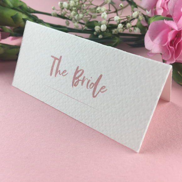 On The Day Essentials - Dark Pink Placecard