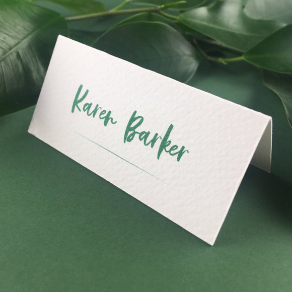 On The Day Essentials - Forest Green Placecard
