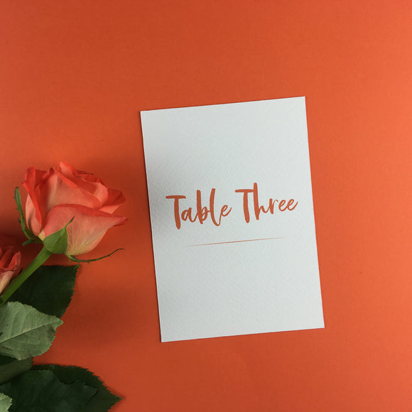 On The Day Essentials - Burnt Orange Table Number Card