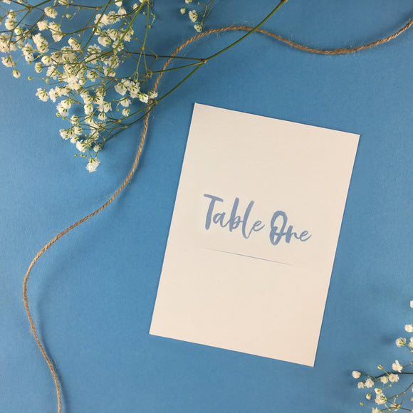 On The Day Essentials - Light Blue Table Number Card