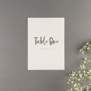 On The Day Essentials - Olive Grey Table Number Card