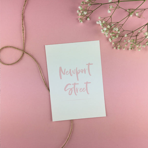On The Day Essentials - Light Pink Table Name Card