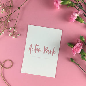 On The Day Essentials - Dark Pink Table Name Card