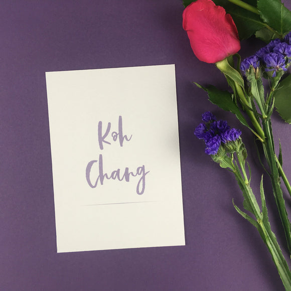 On The Day Essentials - Lilac Table Name Card