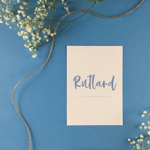 On The Day Essentials - Light Blue Table Name Card