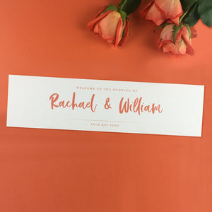On the Day Essentials - Burnt Orange Table Plan Header Cards (2pk)