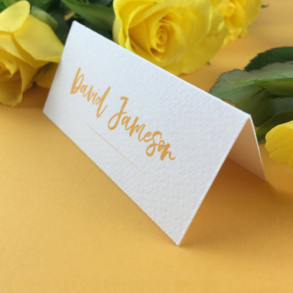 On The Day Essentials - Sunflower Yellow Placecard