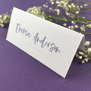 On The Day Essentials - Lilac Placecard