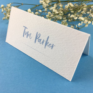 On The Day Essentials - Light Blue Placecard