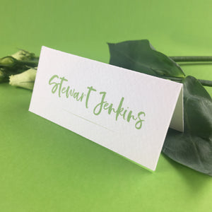 On The Day Essentials - Fresh Green Placecard