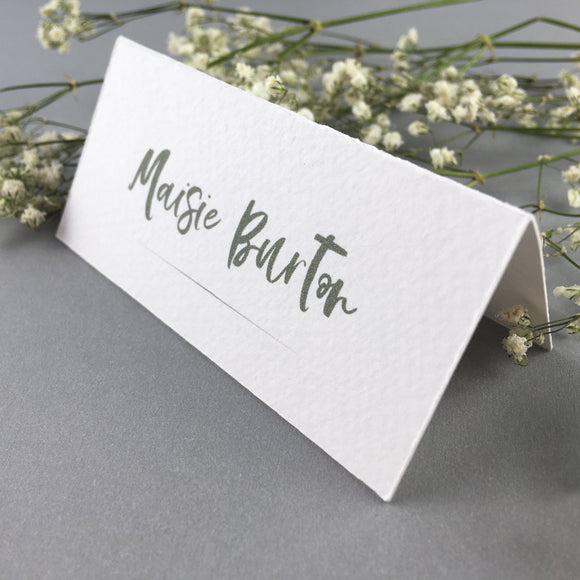 On The Day Essentials - Olive Grey Placecard