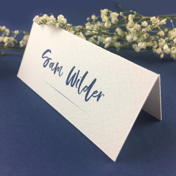 On The Day Essentials - Indigo Blue Placecard
