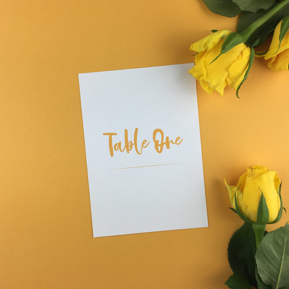 On The Day Essentials - Sunflower Yellow Table Number Card