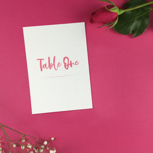 On The Day Essentials - Fuchsia Pink Table Number Card